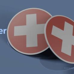 swiss_cross_coaster.png Télécharger fichier STL gratuit Sous-verre de la Croix suisse • Modèle imprimable en 3D, fmorgner