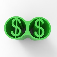untitled.238.jpg Download STL file DOUBLE WEED FILTER TIP DOLLAR • 3D printer model, SnakeCreations