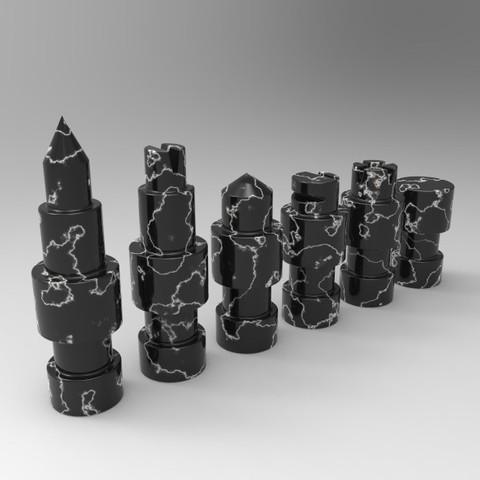 untitled.55.jpg Télécharger fichier STL gratuit Figurines d'échecs • Plan pour imprimante 3D, SnakeCreations