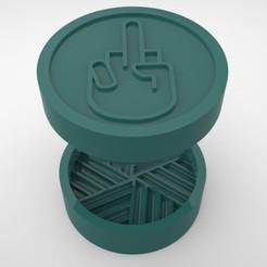 Grinders.377.jpg Télécharger fichier STL BROYEUR D'HERBE - DIY - FUCK YOU • Objet à imprimer en 3D, SnakeCreations