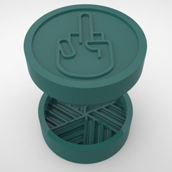 Grinders.377.jpg Download STL file GRINDER WEED - DIY - FUCK YOU • 3D printable object, SnakeCreations