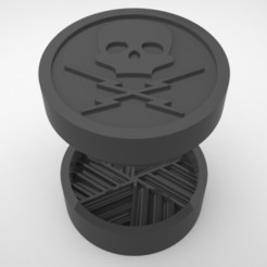 Grinders.370.jpg Télécharger fichier STL BROYEUR D'HERBE - DIY - DEATH PROOF • Design pour imprimante 3D, SnakeCreations