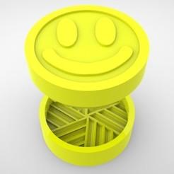 Grinders.383.jpg Télécharger fichier STL BROYEUR D'HERBE - DIY - SOURIRE • Modèle imprimable en 3D, SnakeCreations
