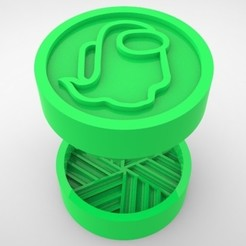 Grinders.391.jpg Download STL file GRINDER WEED - DIY - GOHST AMONG US • 3D printing design, SnakeCreations