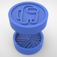 Grinders.389.jpg Download STL file GRINDER WEED - DIY - AMONG US • 3D printer design, SnakeCreations