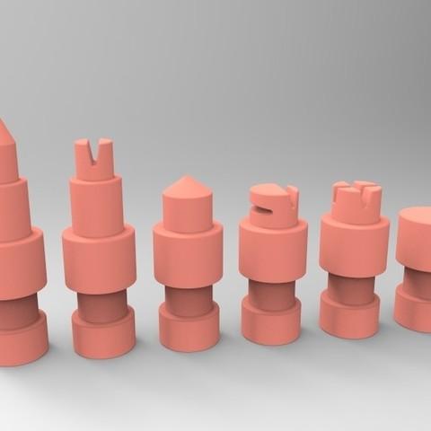 untitled.63.jpg Télécharger fichier STL gratuit Figurines d'échecs • Plan pour imprimante 3D, SnakeCreations