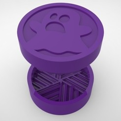 Grinders.375.jpg Download STL file GRINDER WEED - DIY - GHOST • 3D print design, SnakeCreations