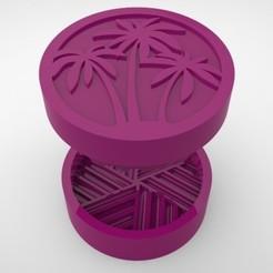 Grinders.380.jpg Télécharger fichier STL HERBE À BROYER - DIY - PALMIERS • Plan pour imprimante 3D, SnakeCreations