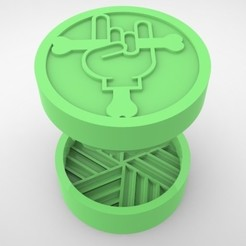 Grinders.382.jpg Download STL file GRINDER WEED - DIY - ROCK • Object to 3D print, SnakeCreations