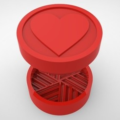 Grinders.369.jpg Download STL file GRINDER WEED - DIY - HEART • 3D printable design, SnakeCreations