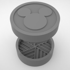 Grinders.378.jpg Download STL file GRINDER WEED - DIY - MICKEY • 3D printer design, SnakeCreations