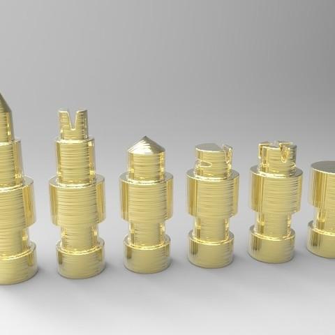 untitled.61.jpg Télécharger fichier STL gratuit Figurines d'échecs • Plan pour imprimante 3D, SnakeCreations
