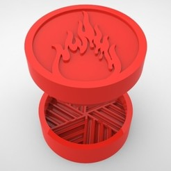 Grinders.376.jpg Télécharger fichier STL BROYEUR HERBE - DIY - FEU • Objet imprimable en 3D, SnakeCreations