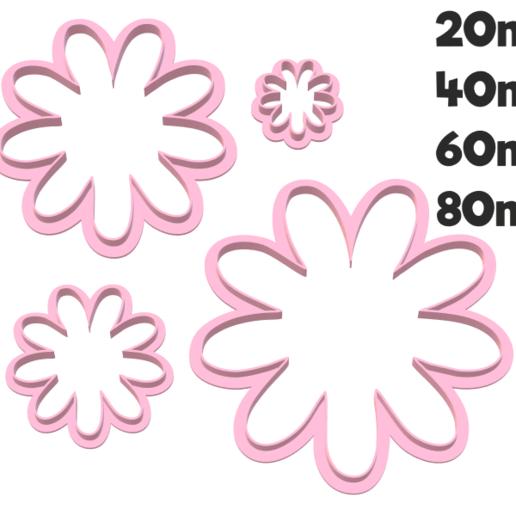 926 Margaritas set.png Download STL file Daisy cutter set • 3D print design, juanchininaiara