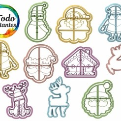 Navidad 4.43.jpg Download STL file christmas cutter set • 3D printable template, juanchininaiara