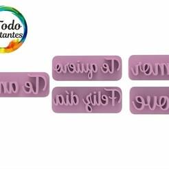 2112 Set palabras love byby.46.jpg Download STL file Valentine's Day Stamp • 3D print object, juanchininaiara