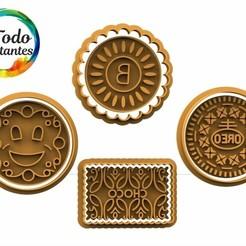 Download STL file Cookie cutter set • 3D printer model, juanchininaiara