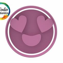 1216 Emoji enamorado.38.jpg Download STL file Set x2 Emoji in love • 3D printer template, juanchininaiara
