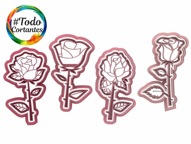 Rosas con tallo.25.jpg Télécharger fichier STL Set de rosiers • Objet pour impression 3D, juanchininaiara