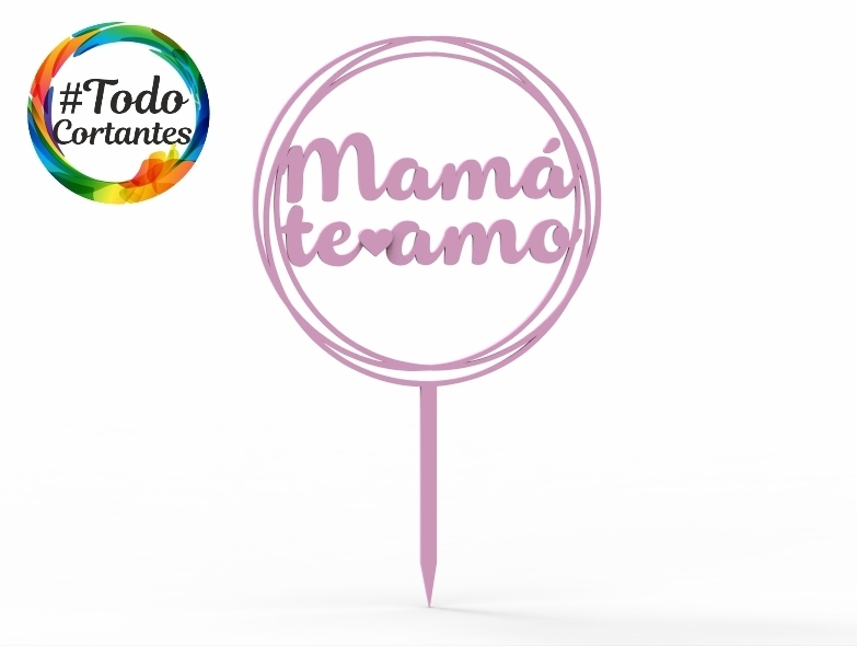 1486 Mampa círculo.76.jpg Download STL file Topper cake Mother's Day • 3D printing object, juanchininaiara