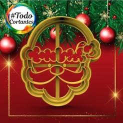 337 Santa 3.49.jpg Download STL file short christmas santa claus papa noel • 3D printable template, juanchininaiara