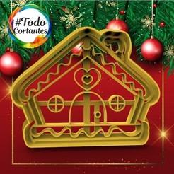 340 Casita de jengibre.52.jpg Download STL file Christmas Cutter Gingerbread House • Object to 3D print, juanchininaiara