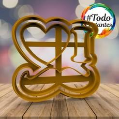 1052 I Love Mostacho.22.jpg Download STL file short father's day • 3D print template, juanchininaiara