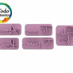 2111 Set palabras love autograph.45.jpg Download STL file Valentine's Day Stamp • 3D print object, juanchininaiara