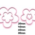 923 Flores de 5 set.png Download STL file Flower Cutter Set • 3D printable object, juanchininaiara