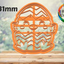pollito en huevo.png Download STL file easter cookie cutter • 3D print design, juanchininaiara