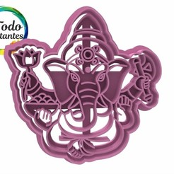 Descargar modelo 3D Set Ganesha cookie cutter, juanchininaiara