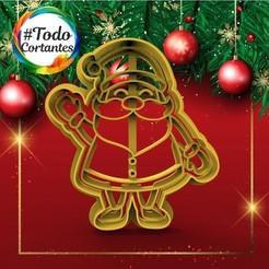 338 Santa entero.50.jpg Download STL file Santa Claus Christmas Cutter • 3D printer object, juanchininaiara