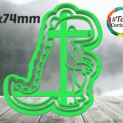 TRex.png Télécharger fichier STL moule à biscuit dino • Modèle imprimable en 3D, juanchininaiara