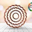 Download 3D printer designs Circle cutter set with waves, juanchininaiara
