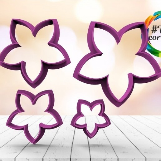 untitled.15.jpg Download STL file Flower Cutter Set • 3D printable object, juanchininaiara