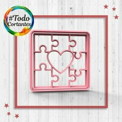 2154 Puzzle love.214.jpg Download STL file Valentine's Day Cutter • Design to 3D print, juanchininaiara