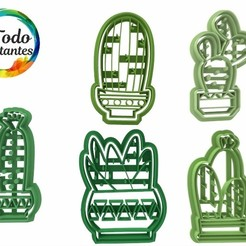 Descargar modelos 3D para imprimir Set cactus cookie cutter, juanchininaiara
