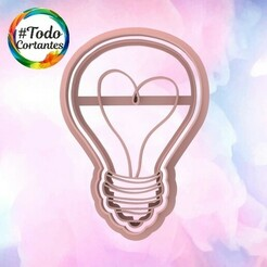 2121 Foco corazón.106.jpg Download STL file Valentine's Day Cutter • Design to 3D print, juanchininaiara