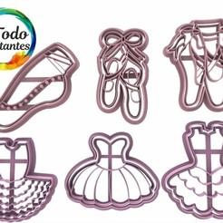Download 3D printing templates Dancer cutter set, juanchininaiara
