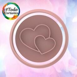 2117 Stamp corazones.101.jpg Download STL file Valentine's Day Cutter • Design to 3D print, juanchininaiara