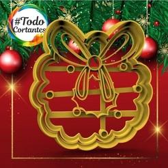 302 Corona con moño.18.jpg Download STL file short christmas crown • 3D printer template, juanchininaiara