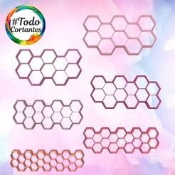 Set hexágonos múltiples.83.jpg Download STL file Hexagon multiple cutter set • 3D printer model, juanchininaiara