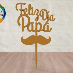 untitled.16.jpg Download STL file father's day cake topper • 3D printing template, juanchininaiara