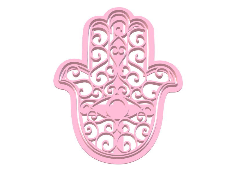942 Fátima 2.png Download STL file Hamsa Jamsa Fatima Set • 3D printing template, juanchininaiara