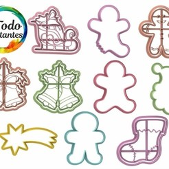 Navidad 2.19.jpg Download STL file christmas cutter set • 3D printable template, juanchininaiara