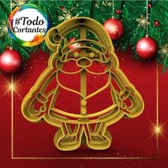 339 Santa entero 2.51.jpg Download STL file Santa Claus Christmas Cutter • 3D printer object, juanchininaiara