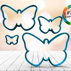 untitled.14.jpg Download STL file butterfly cutter set • 3D printing template, juanchininaiara