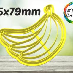 bananas.png Download STL file fruit cookie cutter • 3D print object, juanchininaiara