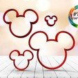 untitled.17.jpg Download STL file Mickey silhouette cutter set • 3D print object, juanchininaiara