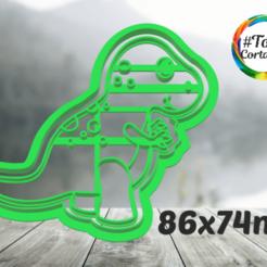 rexi.png Télécharger fichier STL moule à biscuit dino • Modèle imprimable en 3D, juanchininaiara